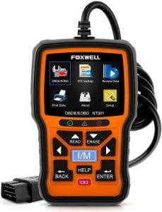 valise diagnostic Foxwell NT301 EOBD-OBD2-Lecteur de code, Light Orange